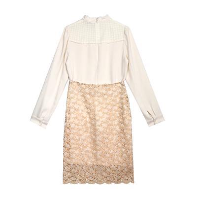 lace blouse white & lace skirt salmon